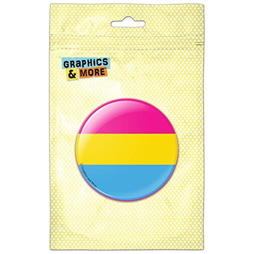 - Pansexual Pansexuality Pride Flag Kitchen Refrigerator Locker Button Magnet - 1 Inch Diameter