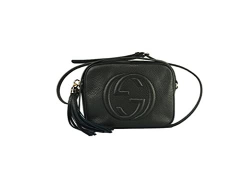 c2f108c23369 Image Unavailable. Image not available for. Colour  GUCCI lady Soho Disco  texture leather shoulder bag black