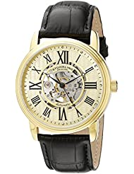 Stuhrling Original Mens 1077.333531 Classic Delphi Venezia Automatic  Skeleton Stainless Steel Watch with Leather...