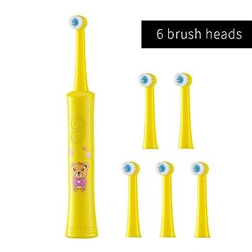 Amazon.com: Rotating Children Electric Toothbrush Tooth Brush Teeth Electric Toothbrush Rechargeable Hygiene Dental Care R01 R01 yellow 6heads: Beauty