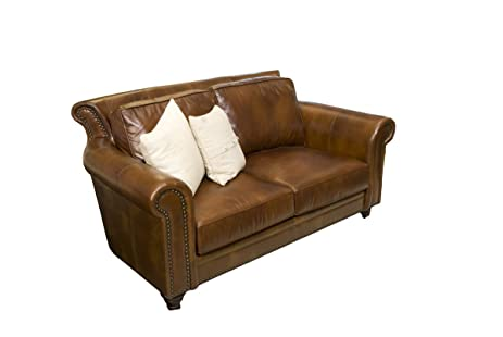 elements paladia top grain leather loveseat rustic leather