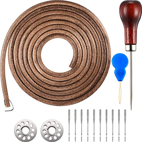 (Norme 1 Pack 183 cm 3/16 Inch Leather Belt Treadle Parts with Hook Compatible with Singer/Jones Sewing Machine)