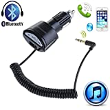 Moonet Car USB Charger A2DP 3.5mm Handsfree Bluetooth AUX Stereo Audio Receiver Adapter