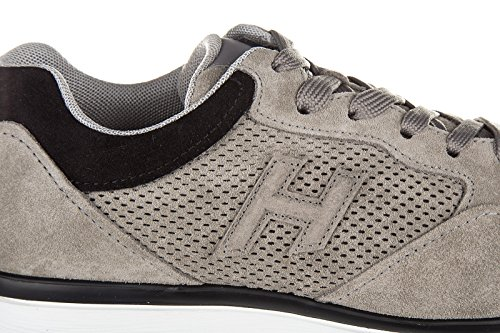 Hogan zapatos zapatillas de deporte hombres en ante nuevo h3d forato gris