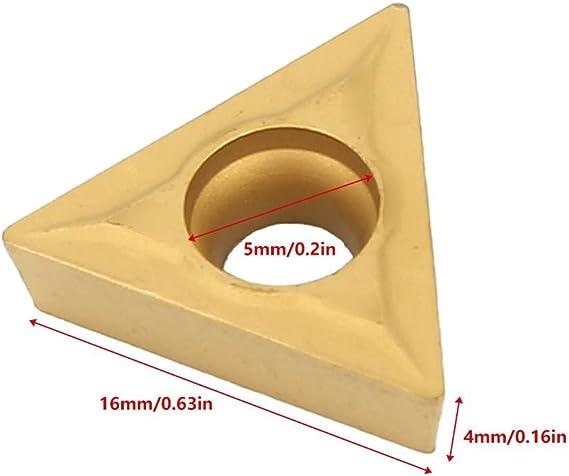 Insertos de carburo 10 piezas TCMT 16T304 Herramienta de torneado CNC de inserto de carburo de acero para industrial