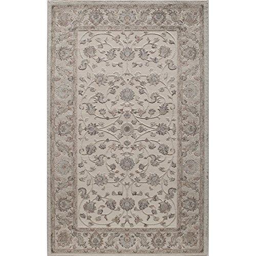 Rugs America RV100B Area Rug, 5' x 8', Ivory Cream from Rugs America