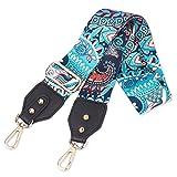 Louty 2'' Wide Adjustable Handbag Purse Strap Replacement Guitar Style Multicolor Canvas Crossbody Bag Straps