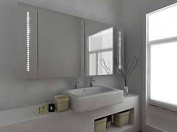 Modern Mirror Design LED Bathroom Cabinet With Sensor Demister Pads And Shaver Socket C126