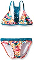 Roxy Big Girls Boho Island Tri Set, Biscay Bay, 16