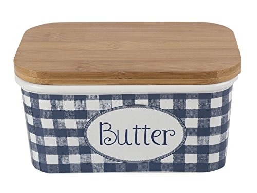 Creative Tops Katie Alice Blue & White Butter Dish From The Vintage Indigo Collection