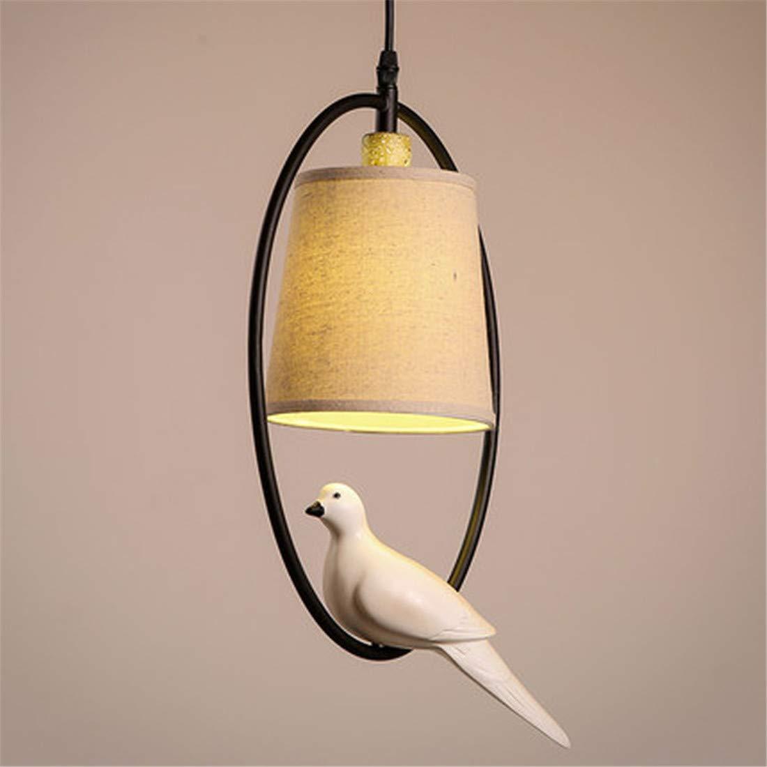 Eisenkunst Leuchter Vogelform Europäischer Stil Oval Dekoration Tuch Lampenschirm Warmes Licht Kinderzimmer Verstellbare Höhe 38  25 cm (Kronleuchter,Lüste)