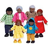 Hape - Happy Family - African American Doll House Set