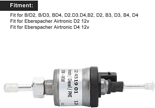 Gancon Fuel Metering Pump Diesel Heater Fits for Eberspacher Airtronic D.2//D4 12V 22451901