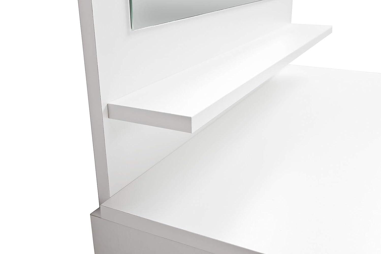 moderner Schminktisch mokebo/® Die Schicke Kosmetikspiegel in Wei/ß mit Schublade /& Spiegel zur Schmink Aufbewahrung Kosmetiktisch B//H//T Schminkspiegel 72x130x40cm Made in Germany!