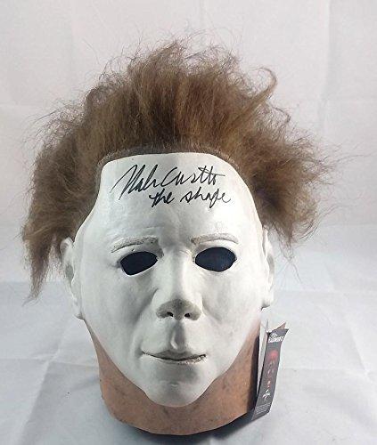 NICK CASTLE SIGNED MICHAEL MYERS HALLOWEEN PROP MASK JSA PROOF J1 (Halloween Movie Props)