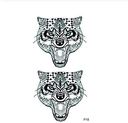 ruofengpuzi 4Pcs Leopardo del Cabezal De Impresión Tatuaje ...