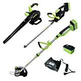 ALEKO AGTHTLB36V Leaf Blower String Grass Trimmer and Hedge Trimmer NiZn Combo Kit