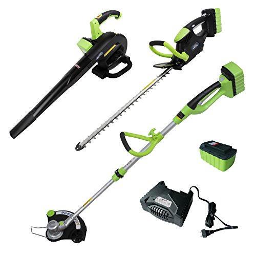 ALEKO AGTHTLB36V Leaf Blower String Grass Trimmer and Hedge Trimmer NiZn Combo Kit by ALEKO