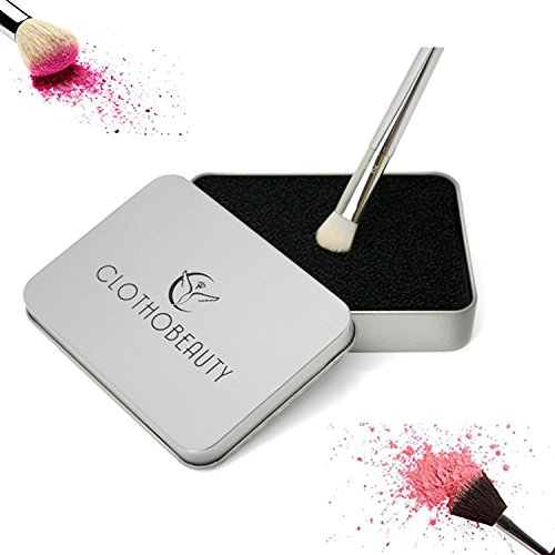 CLOTHOBEAUTY Makeup Brush Quick Cleaner Sponge, Color Removal Sponge,Remove Eye shadow or Blush color from your brush quickly, Easily Switch to next color,Makeup Brush Cleaner Kit (Large Size)