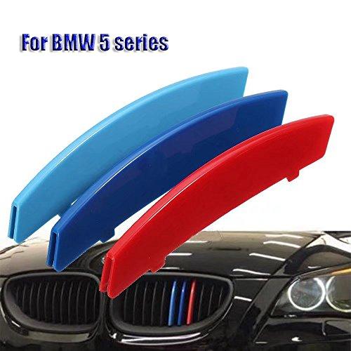 KingFurt Car Grille Insert Trims For 2004-2010 BMW E60 5 Series 525i 528i 530i 535i 540i 545i 550i M5 Front Center Kidney Grilles (11 Beams) ()