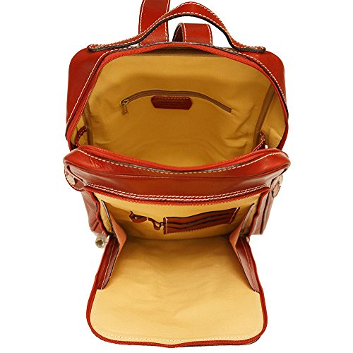 Red Backpack flat purse unisex 6538 S6frH6qI4