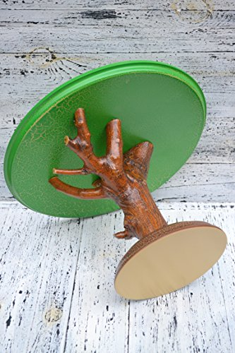 16 inches woodland cake stand,Wooden Centerpiece,Wooden Pedestal,Wood Cake Stand,Wooden Display,Wood burned Pedestal,wooden cupcake pedestal by Pinnery