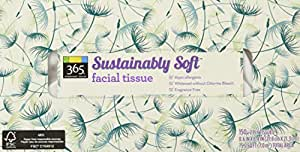 365 Everyday Value Sustainably Soft Facial Tissue, 150 Count