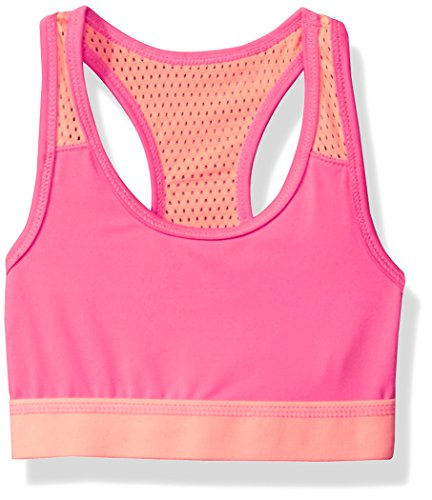 The Children's Place Big Girls' Solid Sports Bra, Neon Berry, M (7/8)