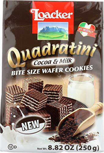 (Loacker Quadrating Cocoa & Milk, 8.82 oz)