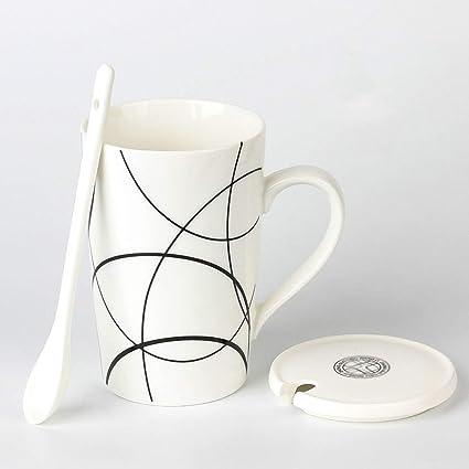 GTSbeiTA Copa Mark Rayada, Sala de reuniones Taza de cerámica Cafetería Tienda de postres Jugo