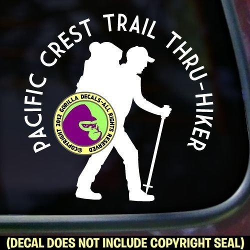 PACIFIC CREST TRAIL THRU HIKER Hiking Love Hike PCT Vinyl Decal Sticker C