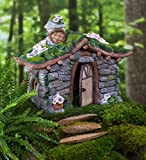Plow & Hearth Stone Flower Cottage Toad House - 10.50 L x 7.25 W x 8.75 H