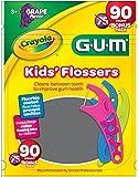 Sunstar 897RZ GUM Crayola Kids' Flosser,90 Count Bonus Pack