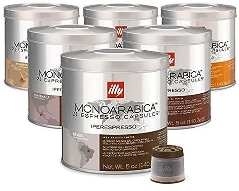 Pack surtido 126 Cápsulas café Illy IperEspresso Monoarabica: Amazon.es: Alimentación y bebidas