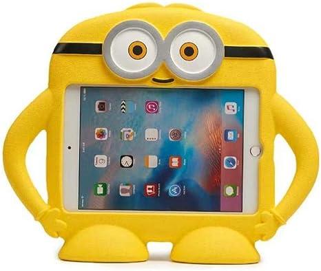Caja de Espuma Eva Eva Segura para niños de Dibujos Animados para iPad Mini 1 2 3 4 7.9 Pulgadas Cubierta de Tableta niños a Prueba de Golpes Cubierta de Soporte-Amarillo: Amazon.es: Informática