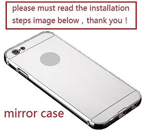 A-Smile @ iPhone 5C Case,Luxury Metal Air Aluminum Bumper Detachable + Mirror Hard Back Case 2 in 1 cover Ultra-Thin Frame Case For iPhone 5C (Aluminum Metal Iphone 5c Case)