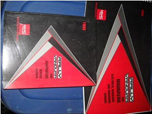 1993 GMC Rally Vandura & Magnavan Service Shop Repair Workshop Manual Set W ETM