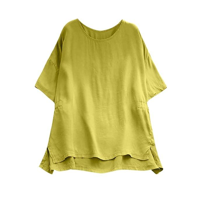 80e41c4d96 Birdfly Super Loose Wide Cuff Cotton Linen Plain Blouse Tops for Women  Breezy Summer at Amazon Women s Clothing store