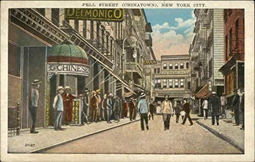 Pell Street Chinatown New York New York Ny Original Vintage Postcard At Amazon S Entertainment Collectibles Store