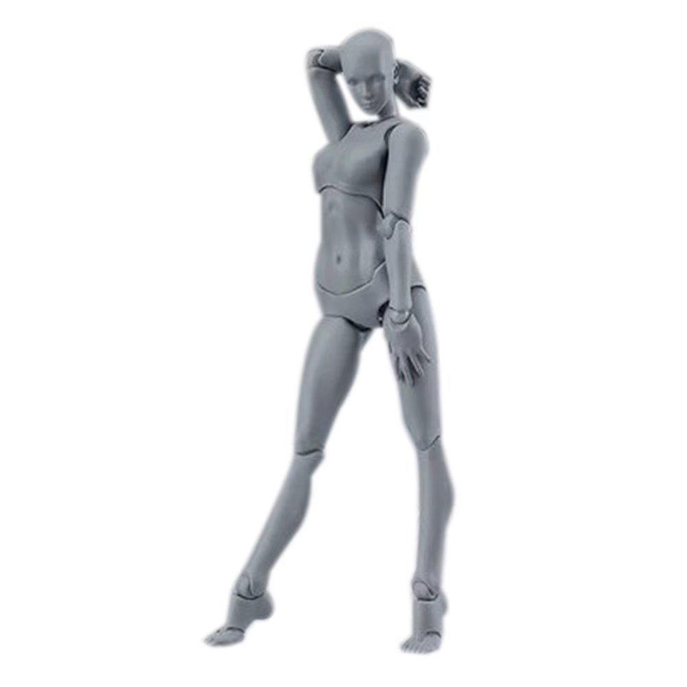 JHion Accessoires de Peinture, Couleur de Peau Masculine et Féminine, Modèle Pratique Physique Femme Couleur de la peau 13cm