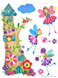 Princess Wall Decal Kids Baby Pink Room Decor Fairies Castle Art Mural Sticker