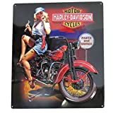 Harley-Davidson Fixer Up Babe Bar & Shield Tin Sign 13 x 15 Inches 2010401