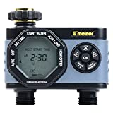 Melnor 53100 2-Outlet Digital Water Timer, Simple and Flexible Programming, Easy Manual Override, Independent Start Time for Each Valve