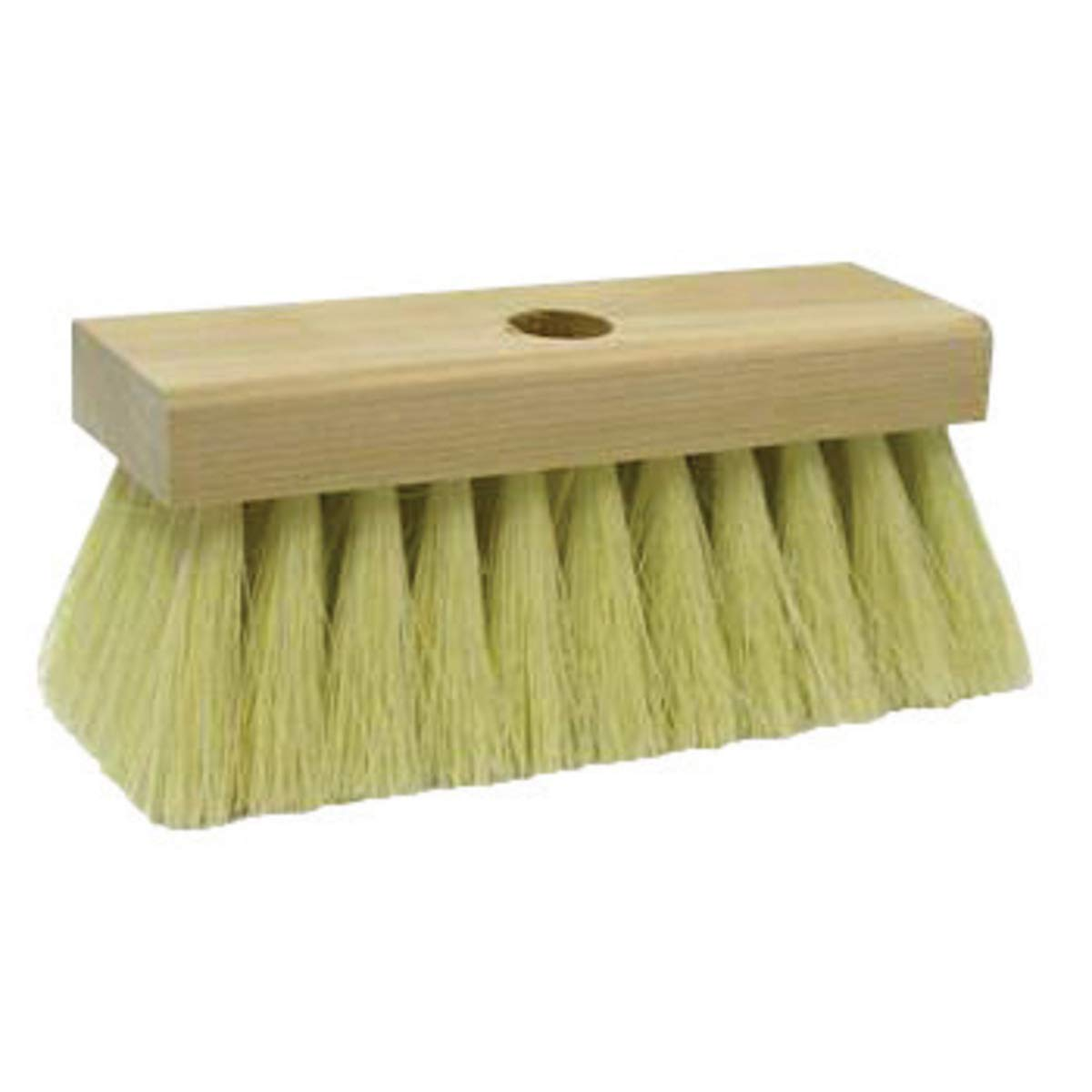 Weiler Block Roof Brush With 7'' Block, Tapered Handle, 2'' White Tampico Trim And 5 Knots, Package Size: 12 Each by Weiler Corp. (Image #1)
