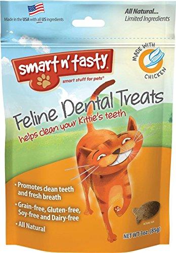 Emerald Pet Cat Chicken Dental Grain Free Treats, 3-Ounce