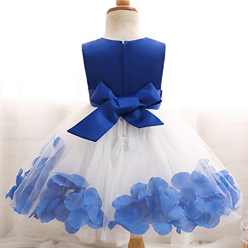 1fe276bc7e4 NNJXD Girl Tutu Flower Petals Bow Bridal Dress for Toddler Girl ...