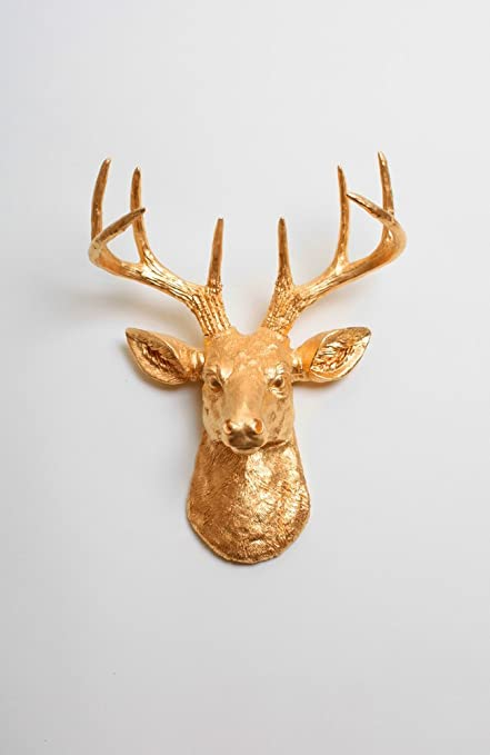 Amazon.com: Faux Deer Head - The Mini Franklin Miniature Metallic ...