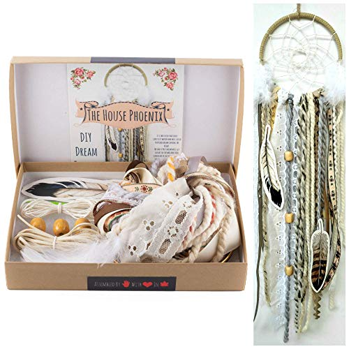 Make Your Own Dream Catcher Kit DIY Craft Activity Cream Wall Hanging Birthday Gift from The House Phoenix