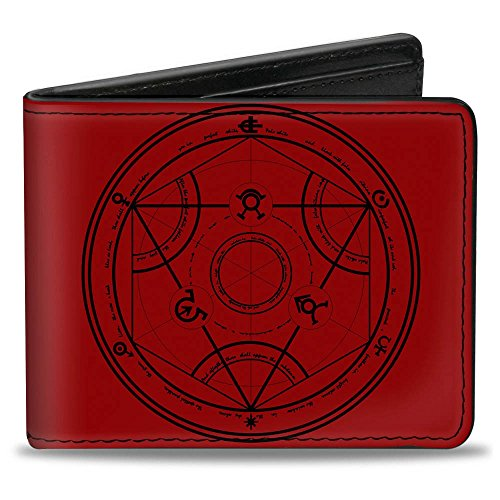 Full Metal Buckle (Buckle-Down Men's Wallet Human Transmutation Symbol + Edward & Alphonse Elric Accessory, -Multi, One)