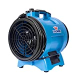 "XPOWER X-12 1/2 HP 12"" Diameter Industrial Confined Space Ventilation Fan – for Corn Mills, Man Hole, Sewage Systems – Blue"